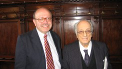 Профессор Антони Гаргано, Генеральный секретарь Института, и Джерардо Маротта, в помещениях Института.