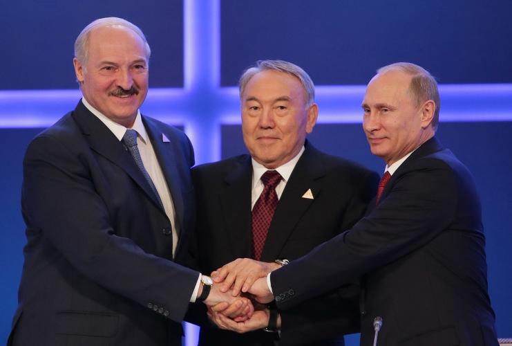 Президенты РФ, Белоруссии и Казахстана. Фото: borisovnews.by