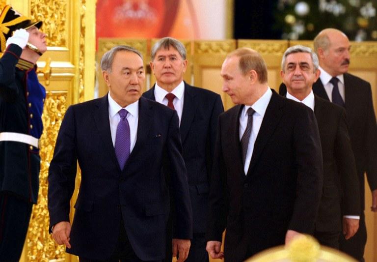 Президенты России и Казахстана на заседании Высшего Евразийского экономического совета, фото: akorda.kz