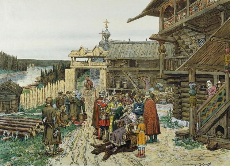 01_Двор удельного князя_Васнецов
